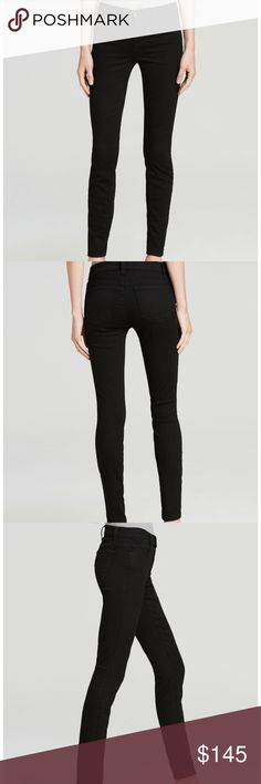 "J Brand Skinny Leg Mid-Rise Black Skinny Jeans 29 No flaws brand new⭐️Denim heads back to black with J Brand's dark-as-night jeans, rendered in a leg-lengthening skinny fit and universally flattering mid rise. Cotton/polyester/elastane Machine wash Made in USA Fits true to size, order your normal size Zip fly with button closure, five-pocket silhouette, mid-rise Tonal stitching, black logo hardware 8"" rise, 29"" inseam, 11"" leg opening SMART DENIM: Photo Ready stretch technology lifts and…"