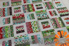 Piece N Quilt: December 2012 A Christmas-themed Radio Way pattern quilt.