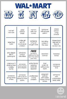 Walmart Bingo - FANTASTIC!!
