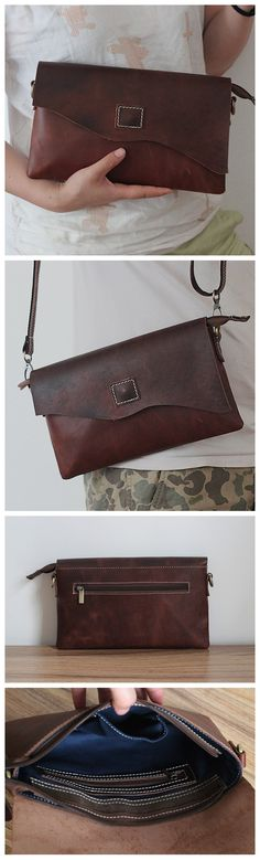 Leather Wallet Pattern, Leather Pouch, Leather Crossbody Bag, Leather Purses, Leather Handbags, Brown Groomsmen, Leather Evening Bags, My Style Bags, Cloth Bags