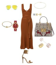 """""""#summerloving #summer #fashion @giig82"""" by giig82 on Polyvore featuring Gianvito Rossi, Gucci, Victoria Beckham, Jacquie Aiche, Ron Hami, Versace and vintage"""