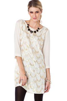 Gatsby Shift Dress / ShopSosie #shift #dress #silky #glitter #shimmer #shopsosie