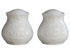 Chic Antique,Provence Salz u. Pfefferstreuer-Set,Porzellan,weiß,Landhausstil