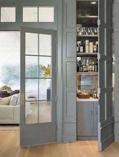 Modern Georgian, Seattle Homes, Kitchen Design, Kitchen Decor, Secret Rooms, Kitchen On A Budget, My Living Room, Bars For Home, Door Design