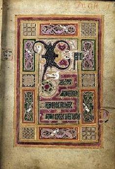 Folio after Matthew - MacDurnana Gospels, ca. 890s Manuscript (Ms. 1370), 159 x 111 mm Lambeth Palace Library, London (Not on the LPL Luna viewer)