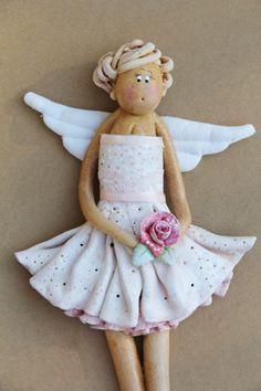 Baletnica - anielinka z masy solnej! Anioł