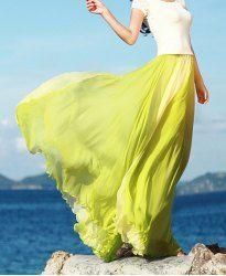 Lime Flowy Maxi