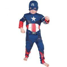 Kaptan Amerika Çocuk Kostüm 3-4 Yaş