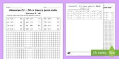 Adunări și scăderi cu și fără trecere peste ordin (0-100) - Fișe de Google Drive, Periodic Table, Periotic Table