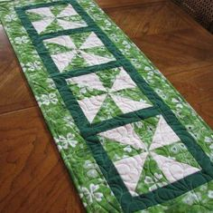 St Patricks Day Tablerunner by LMKquilts for $35.00