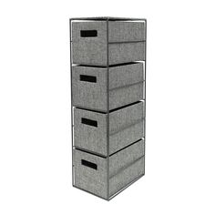 Ellis Grey Fabric Storage Four Drawer Unit Storage Boxes, Locker Storage, Drawer Unit, Fabric Storage, White Houses, Grey Fabric, Storage Solutions, Modern Decor, Drawers
