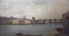 Newcastle upon Tyne from the South West, painted by John Wallace, 1884. This is on show in Discovery Museum in Newcastle.