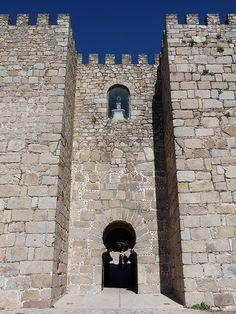 entrance portal to the Alcazaba inTrujillo