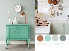 Colores que combinan con el cobre: verde menta (mint)