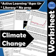 Climate Change Activity and Worksheet - Cut out the questions provided and stic. - Climate Change Activity and Worksheet – Cut out the questions provided and stick them around you - Science Resources, Educational Activities, Learning Activities, Teaching Resources, Global Warming Climate Change, Climate Change Effects, Change Background, Student Teaching, Environmental Science