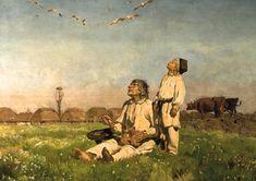"""Józef Chełmoński - """"Bociany"""""""