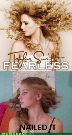 NAILED IT. Ha I totally admit to trying to do the Fearless and Speak Now covers in the bathroom...for hours...