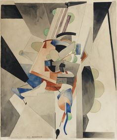 Francis Picabia 1879 - 1953 EN BADINANT signed Picabia, titled and dated 1914 (lower left) watercolour and pencil on paper 64.5 by 53.7cm. 25 3/8 by 21 1/8 in. Executed in 1914.