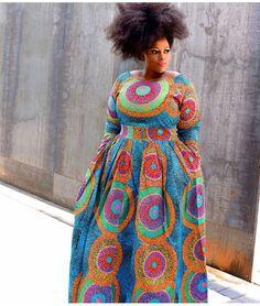 African maxi dress/African ball gown/plus size dress/African women dress/African print dress/… at Diyanu
