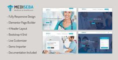 ediseba – Medical & Healthcare Wordpress Theme is a modern, clean & minimalist theme which is made with Elementor page builder. Mediseba is well designed and highly suitable for Medical purpose such as Hospital, Single Doctor Clinic, Dentist, Chiropractic, Physician, Optician, Orthopedic, Gerontology, Health Care Business, etc.Key Features:. Clean & Modern Design. 4 Homepage Design. 4 Header Sty... Browser Support, Homepage Design, Optician, Medical Care, Chiropractic, Pediatrics, Header, Wordpress Theme, Clinic