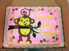 Monkey Girl Themed Cake