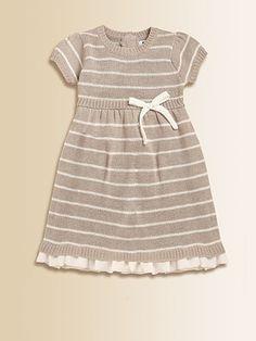 Chiffon Trim Sweater Holiday Dress