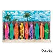 Surf's Up Surfboard Backdrop Banner
