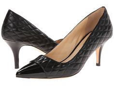 Cole Haan Bradshaw Cap Toe Pump 65 Black Quilted - Zappos.com Free Shipping BOTH Ways