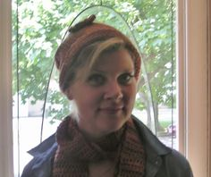 Crocheted Hat and Scarf in Terra Cotta by LynnsCreativeCrochet, $24.99