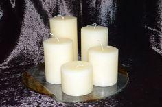 ΧΕΙΡΟΠΟΙΗΤΑ  ΚΕΡΙΑ  ΕΚΡΟΥ ΔΙΑΜΕΤΡΟΥ  9 cm  (ΣΕΤ 5 ΤΕΜ) via ΕΡΓΑΣΤΗΡΙΟ  ΚΕΡΙΩΝ. Click on the image to see more! Pillar Candles, Candles