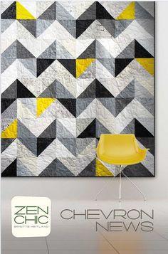Chevron News - by Zen Chic -  Modern Patchwork & Quilting Pattern - fabric by Moda Fabrics