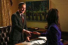 Alan Cumming with America Ferrera in The Good Wife - one of the best actors ever - FACT :) Political Scandals, Politics, Josh Charles, Matt Czuchry, America Ferrera, Biological Parents, Tv Episodes, Good Wife, Episode 5