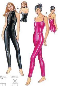 SewingPatterns.com kwik sew ksp3273 unitard bodysuit catsuit -- i like the halter neck one
