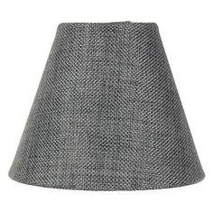 """3x5x4 Granite Gray Burlap Lamp Shade - Clip-on Candelabra Shade. Premium Granite Gray Burlap Fabric Lampshade with Gray Fabric Liner. Includes a Dual Clip-On Fitter designed to sit straighly atop your candelabra bulb). Elevate your home decor with a deluxe quality lamp shade from our Modern Classics Collection, sold exclusively through authorized lighting showrooms. Durable Hotel-tough lampshade. 3""""x5""""x4""""(Top x Bottom x Slant Height) Height is measured on the slant, not straight vertical...."""