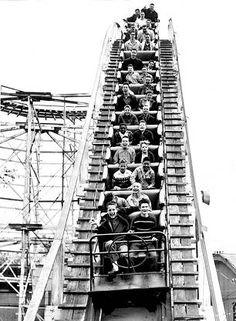 CHICAGO – RIVERVIEW AMUSEMENT PARK – FIREBALL ROLLER COASTER – 1962