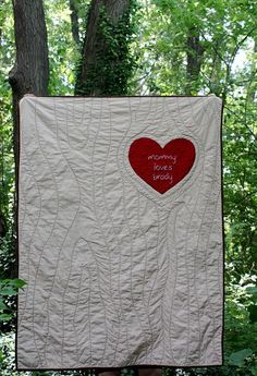 I Love Lovely Babies: Tree Quilt - this could be a very cool quilt back and quilting idea for the whole quilt! Will have to try this one! Love it!