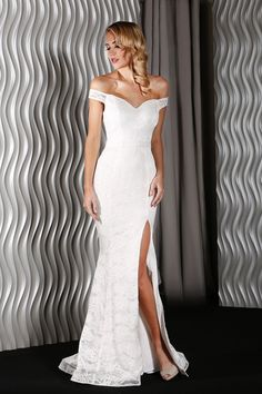 NEW Jadore Dress Catherine Lace Formal Gown - Ivory Sexy Women's Evening Rustic Wedding Gowns, Informal Wedding Dresses, Modest Wedding Gowns, Wedding Gowns With Sleeves, Designer Wedding Dresses, Bridal Dresses, Bridesmaid Dresses, Wedding Venues, Luxury Wedding