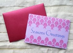 SALE - 40% OFF: Fleur Season's Greetings Cards (Set of 10)
