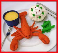 Lana feltro Play Food - aragosta - per il piccolo Chef che ha tutto il resto