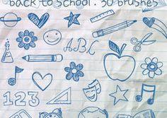 School Doodles Brushes - http://www.dawnbrushes.com/school-doodles-brushes/