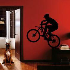 Boys Bmx Room 20 Bmx Biker Wall Art Stickers Decal