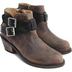 John Fluevog's Alana is a Jodhpur ankle boot perfect for urban wear.