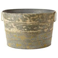 """Check out this item at One Kings Lane! 13"""" Rutherford Bucket, Gray"""