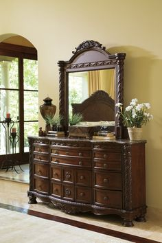 Signature Design by Ashley North Shore Bedroom Set with King Bed Nightstand Dresser and Mirror *** Click image for more details. (This is an affiliate link). Canopy Bedroom Sets, Sleigh Bedroom Set, King Bedroom Sets, Bedroom Decor, Bedrooms, Master Bedroom, Bedroom Furniture, Furniture Ideas, Bedroom Dressers