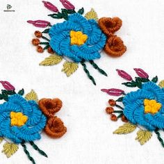 silk ribbon for embroidery Back Stitch Embroidery, Hand Embroidery Patterns Flowers, Hand Embroidery Videos, Learn Embroidery, Hand Embroidery Stitches, Hand Embroidery Designs, Embroidery Art, Ribbon Embroidery, Embroidery Supplies