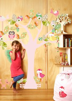 5 Enchanted tree-Large - Kids Wall Stickers, Nursery Wall Decals + fun room accessories! - Leafy Dreams Nursery Decals