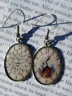 Alice in Wonderland White Rabbit Down the by RabbitHoleJewelryInc  $12.00