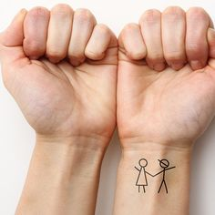 Stick Together cute temporary tattoos http://tattify.com/product/stick-together/