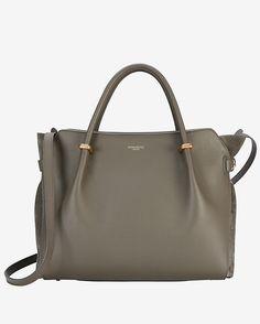 Nina Ricci Marche Medium Double Handle Leather Satchel: Grey | Shop IntermixOnline.com