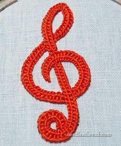 Free Crochet Patterns For Music Notes : Musical Note Crochet Appliques! Free on Mooglyblog.com ...